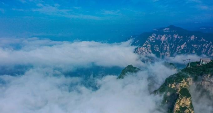 雨后云台山再现云海景观